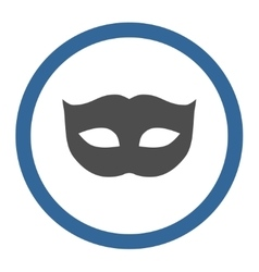 Privacy mask flat cobalt and gray colors rounded vector