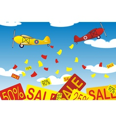 Airplanes banners vector