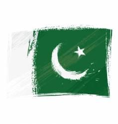 grunge Pakistan flag vector image