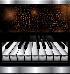 Abstract piano background vector