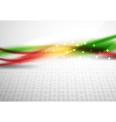 Colorful wave line abstract background with light vector