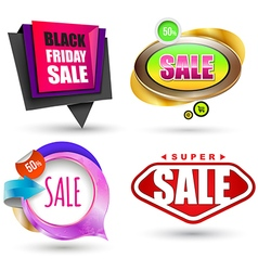 Sale banner set vector