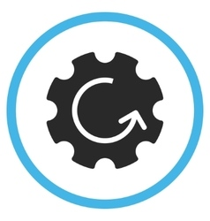 Gear rotation flat rounded icon vector
