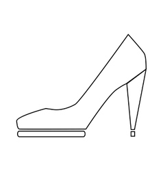 High heel shoe icon in outline style vector