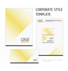 Corporate identity template point vector