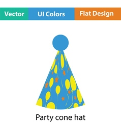 Party cone hat icon vector