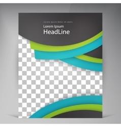 Abstract modern flyers brochure vector