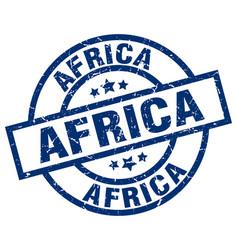 Africa blue round grunge stamp vector