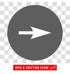 Arrow axis x round eps icon vector
