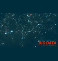 big data visualization futuristic vector image vector image