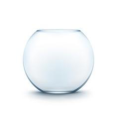 Blue transparent glass smooth fishbowl aquarium vector