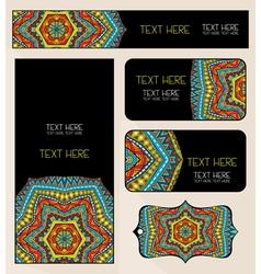 Branding design ethnic pattern set vector