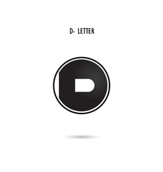 D-letter abstract logo vector