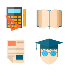 education and school web icon vector image vector image