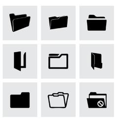 folder icons set vector image vector image