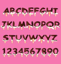 Ice cream alphabet isolated vector