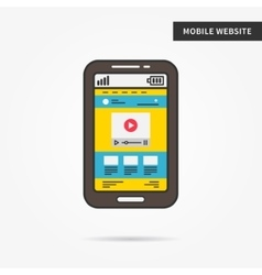 Mobile website vector