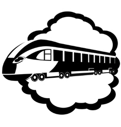 Modern rail transport vector image