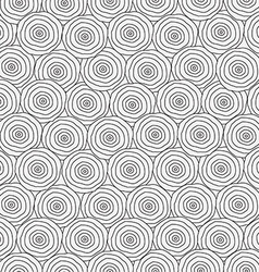 monochrome circles seamless texture vector image