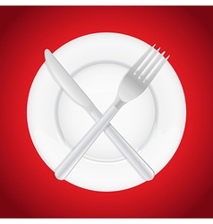 PlateAndCutlery vector image vector image