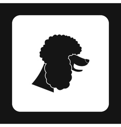 Poodle dog icon simple style vector