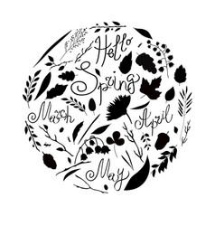 Set black and white vector