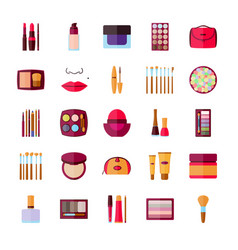 Set of decorative cosmetics vector