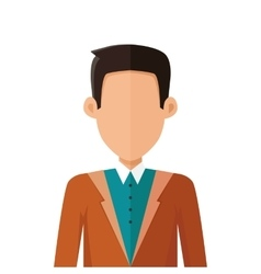 Stylish young man avatar or userpic in flat design vector