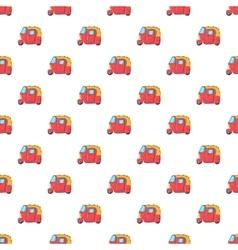 Tuk tuk taxi pattern cartoon style vector