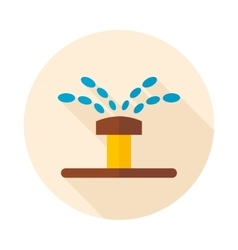 Water sprinkler irrigation flat icon vector image