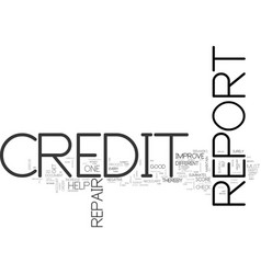 Why is it necessary to do credit report repair vector
