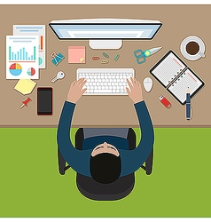 Working office man vector image vector image