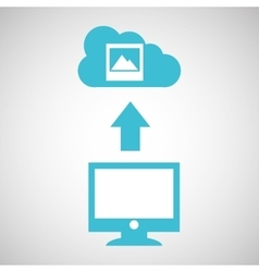 Computer connected cloud image gallery vector