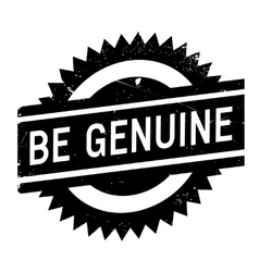 Be genuine stamp vector