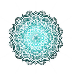 hand-drawn lace frame mandala vector image