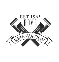 home repair and renovation service black and white vector image