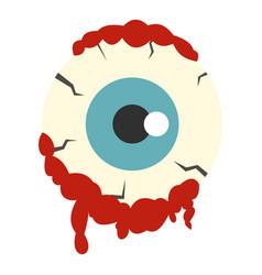 Zombie eyeball icon isolated vector
