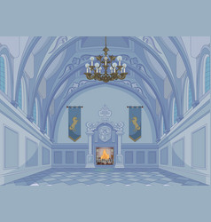 Castle hall vector