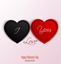 valentine card 2 vector image