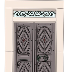 Antique doors vector