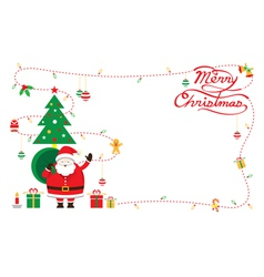 Santa decorate border vector