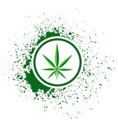 Cannabis blob vector