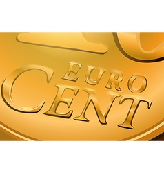 Euro cent coin vector