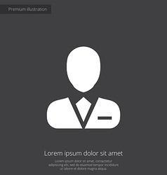 Business avatar premium icon vector