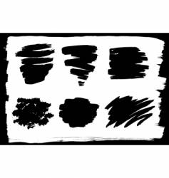 Ink strokes vector