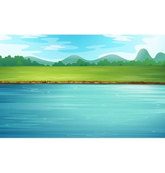 A river and a beautiful landscape vector image
