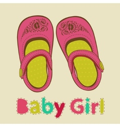 Baby girl shoes vector image vector image