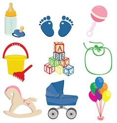 Baby set vector image vector image