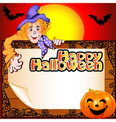 background Halloween with the Scarecrow vector image vector image