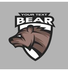 Bear symbol logo vector image